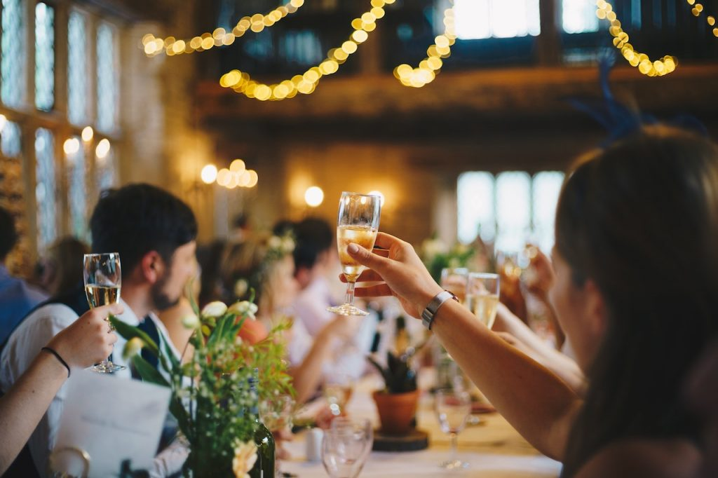 wedding champagne toast